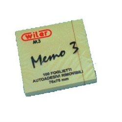 BLOC MEMO AMOVIBLE 76*75. LE PAQUET DE 12 BLOCS