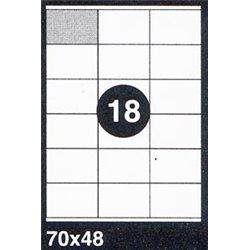 BOITE DE 100 FEUILLES A4. ETIQUETTES FORMAT 70x48MM